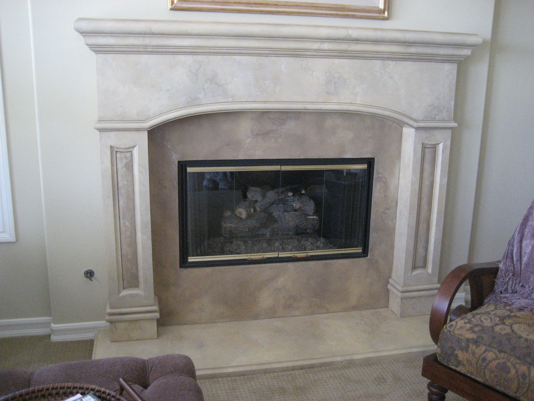 Faux Stone Fireplace Remodel Bestsciaticatreatments